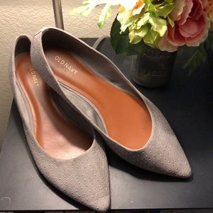 Old Navy Gray Studded Flats 10